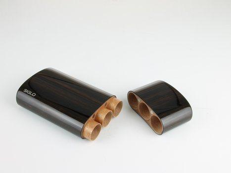 Siglo astuccio in legno di Ebano per 3 sigari Corona