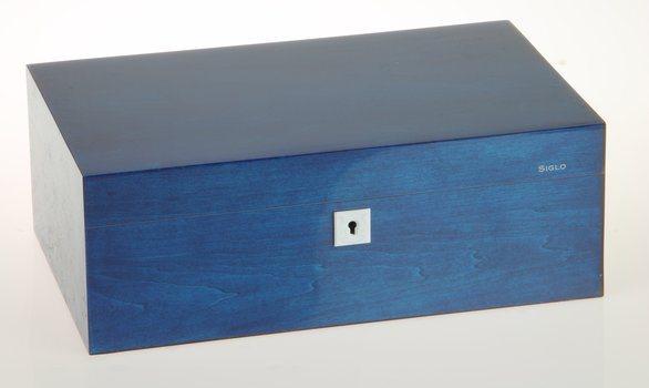 Siglo Humidor dimensione M 75 blu