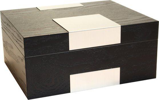 Humidor Real Wood Veneer Black Glassato