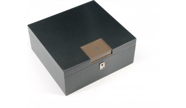 HF Barcelona B Smart humidor da scrivania marrone carbonio