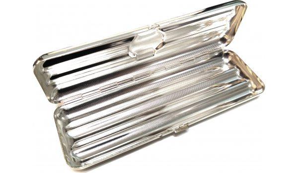 Portasigari per 3 Corona - argento di alta qualità