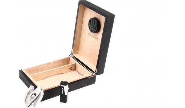Humidor Colibri Firebird - Set - per 20 sigari - nero/opaco