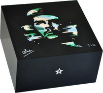Elie Bleu Wooden Humidor 'Che Camouflage' in dyed sycamore