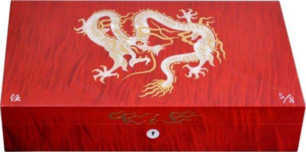 Humidor Elie Bleu Drago Madreperla Edizione Limitata Rosso