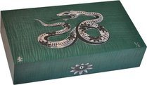 Humidor Elie Bleu Serpente Madreperla Edizione Limitata Verde (numerato 1-8)