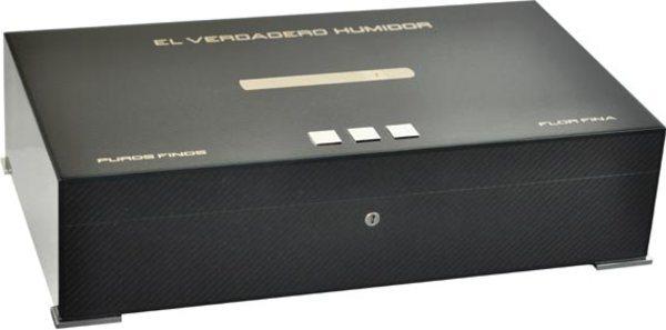 Humidor Elie Bleu Nuova Medaglia Fibra di Carbonio