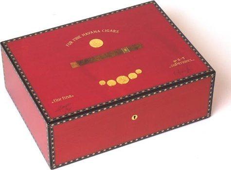 Humidor Elie Bleu Medaglia per 75 Sigari Rosso