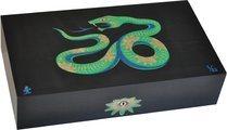 Humidor Elie Bleu Sicomoro Intarsio Serpente Edizione Limitata Nero (numerato 1-88)