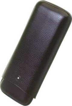 Dunhill WhiteSpot cigar case for two Churchills