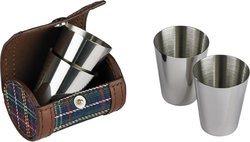 Kit di bicchieri da shot in custodia di pelle/a quadri