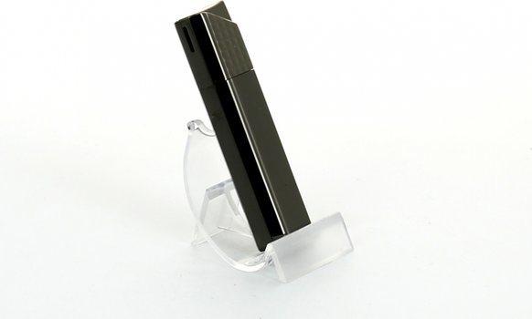 Sarome accendino piezoelettrico nero nickel lattice / satinato