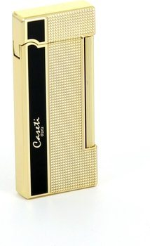 Caseti lighter President oro / nero carrè