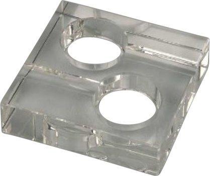 Posacenere Quadrato di vetro per 2 sigari